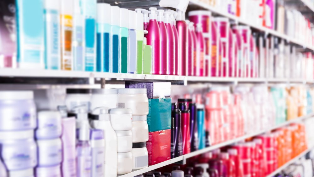 Aisle of beauty products