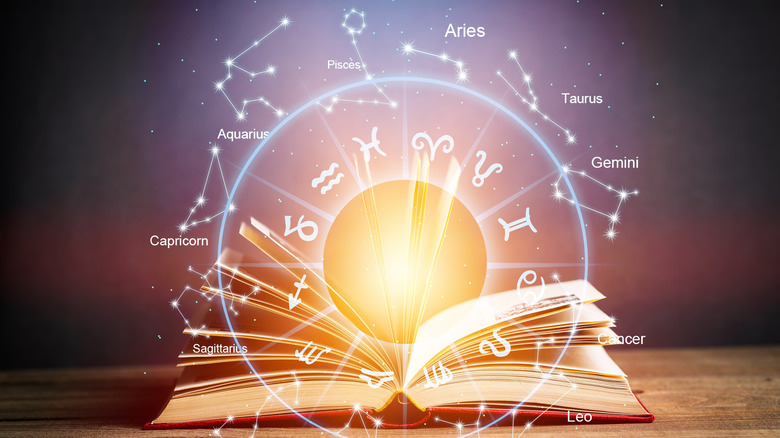 zodiac sign image with book