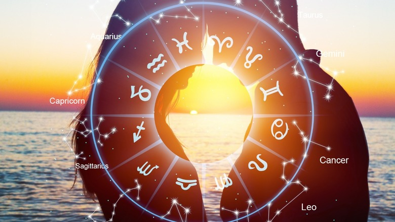 Zodiac sign astrology couple