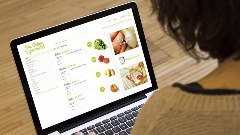 Online grocery shopper