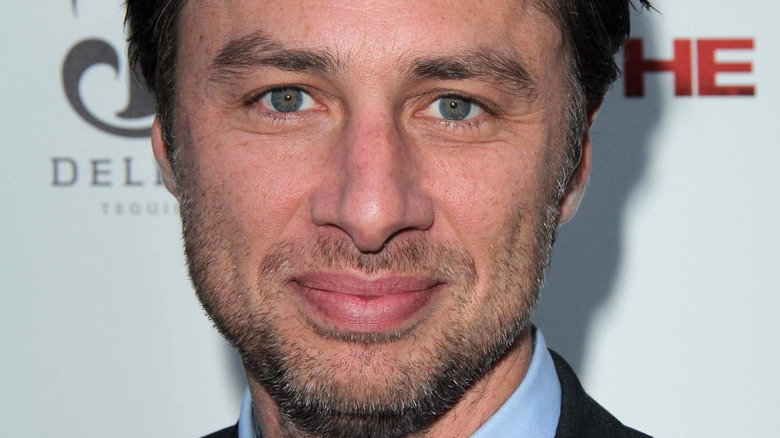 Zach Braff posing for the camera at a movie premiere
