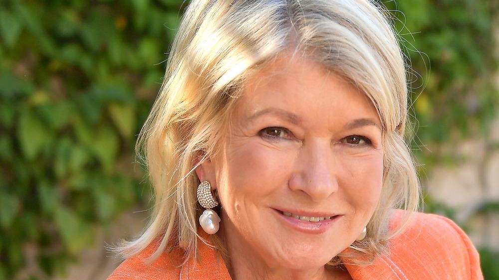 Martha Stewart sitting outside