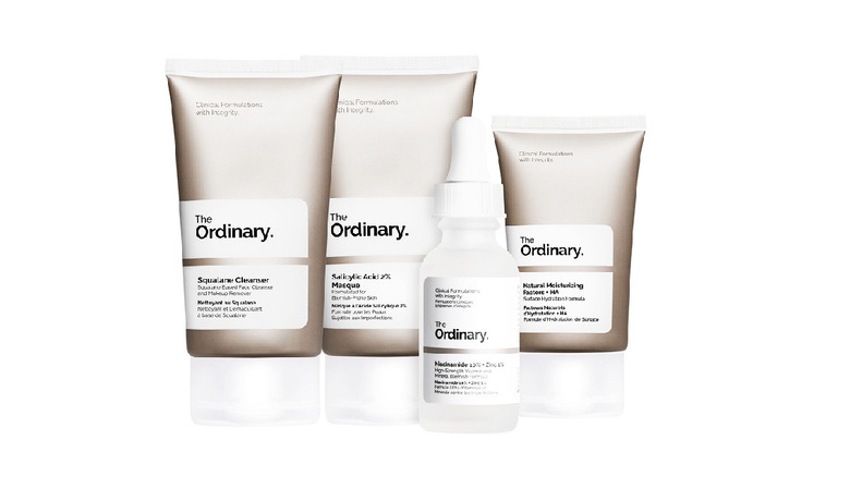Skincare products from The Ordinary