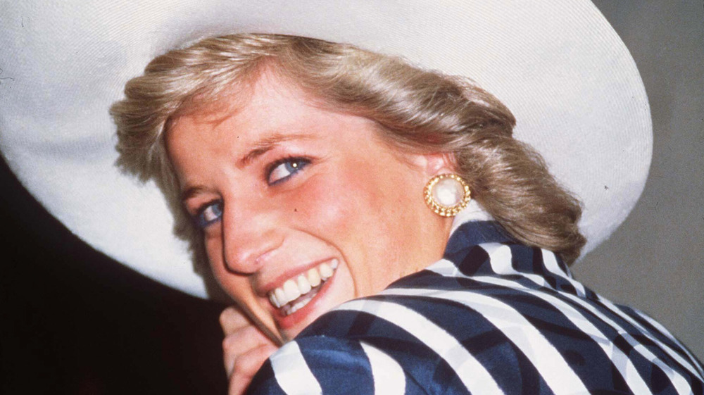 Princess Diana in wide-brim hat