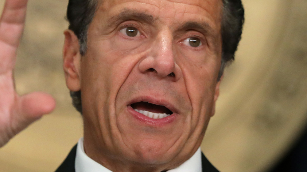 Andrew Cuomo speaking at press conference