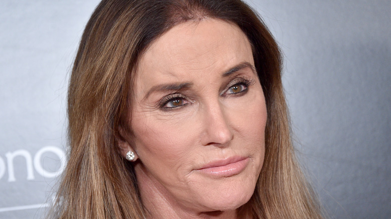 Caitlyn Jenner posing at event