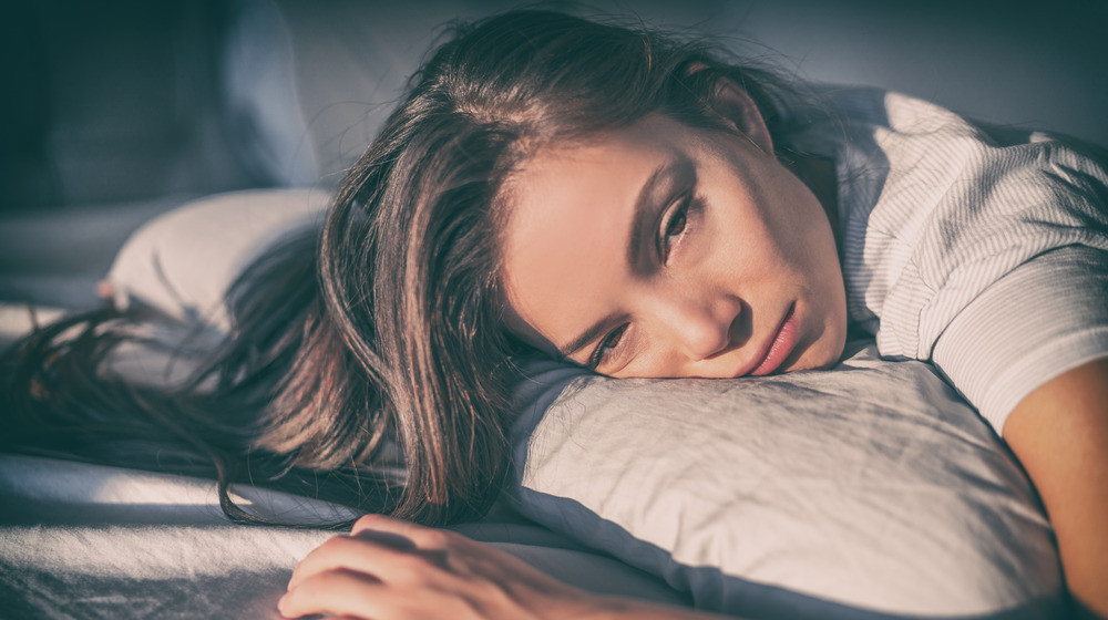 woman who cannot sleep
