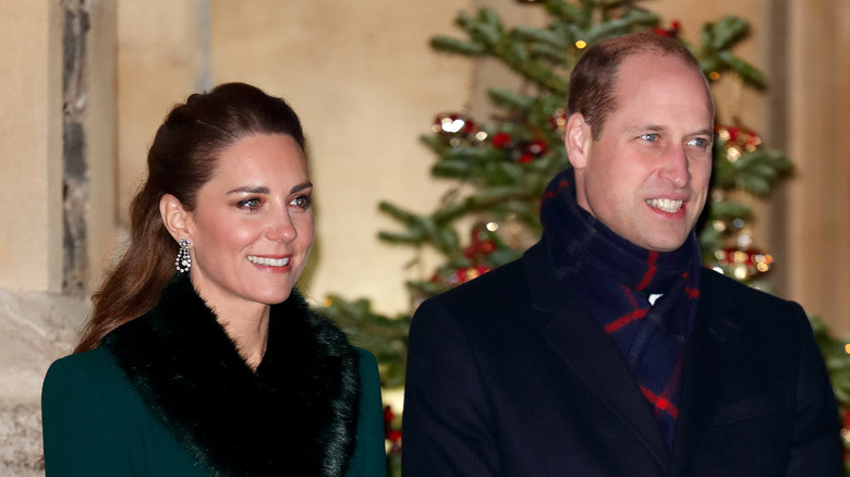 Kate and William smiling