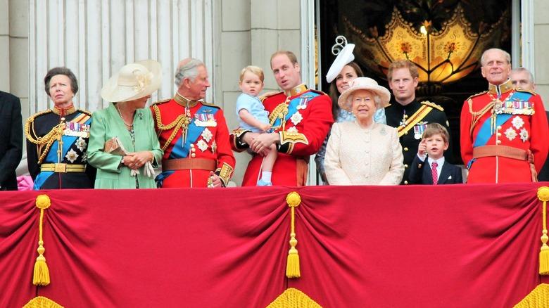 The royal family at Buckingham Palace