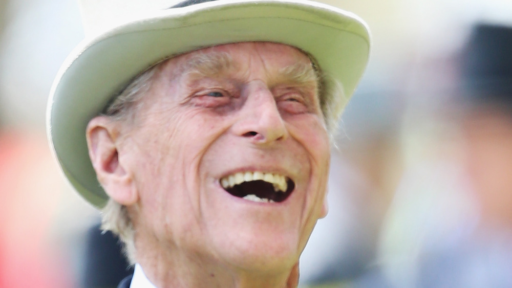 Prince Philip laughs