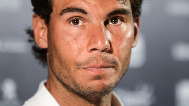 Rafael Nadal looking up