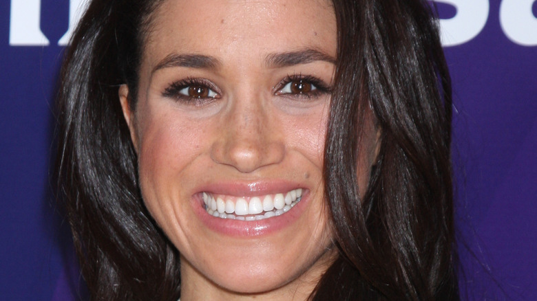 Meghan Markle with her hair down