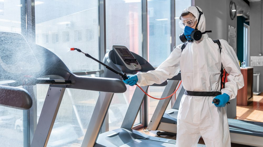Gym being disinfected
