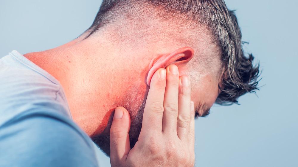 Man suffering from hot ears