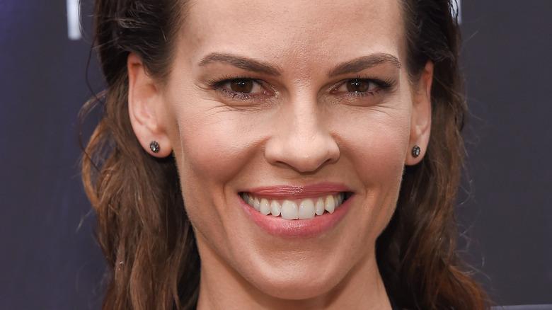 Hilary Swank smiling