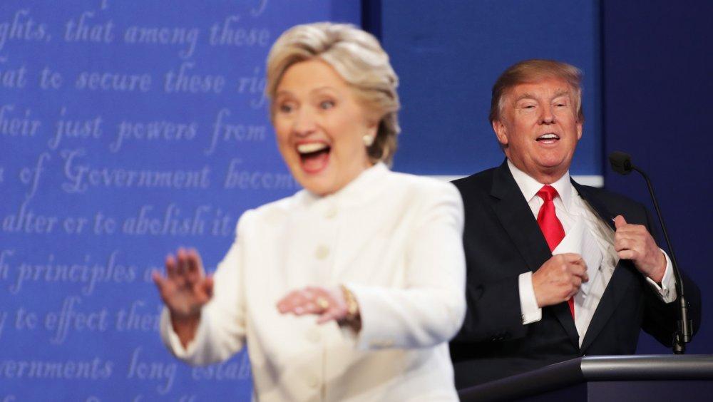 Hillary Clinton and Donald Trump, 2016