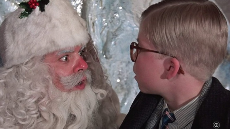 """""""A Christmas Story"""" scene with Santa and Ralphie"""