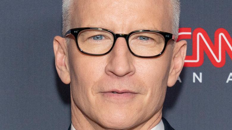 Anderson Cooper on a CNN carpet