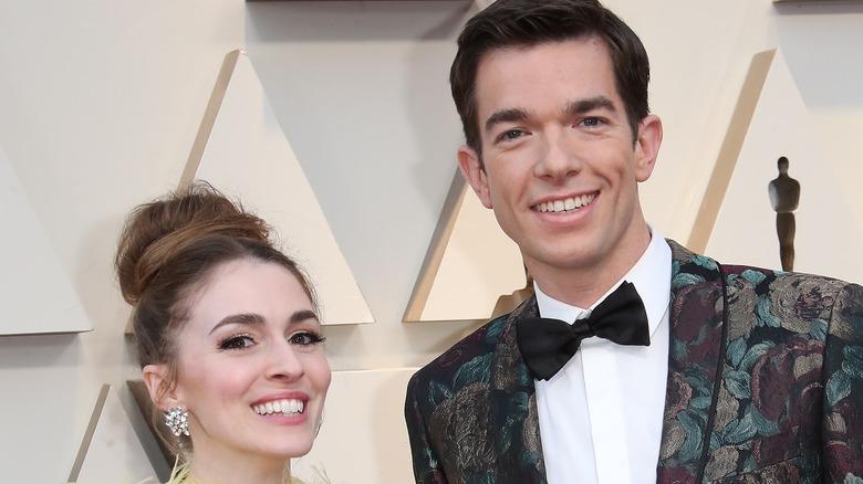 John Mulaney and Anna Marie Tendler at the Oscars