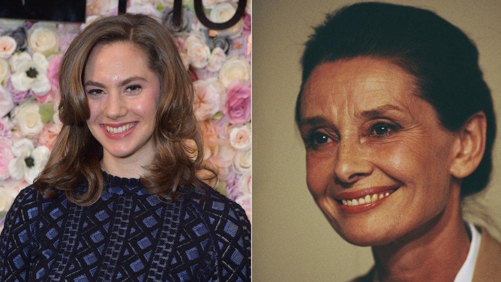 Emma Ferrer and Audrey Hepburn