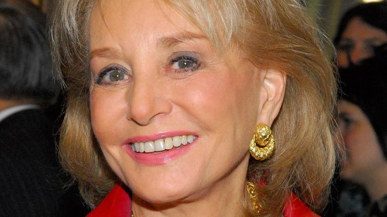 Barbara Walters smiles