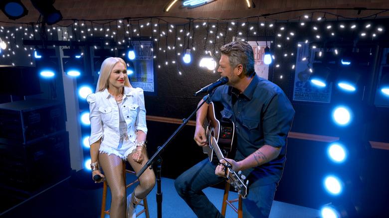 Blake and Gwen performing virtually at the ACMs