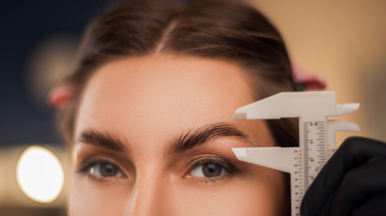 Woman with an eyebrow lift