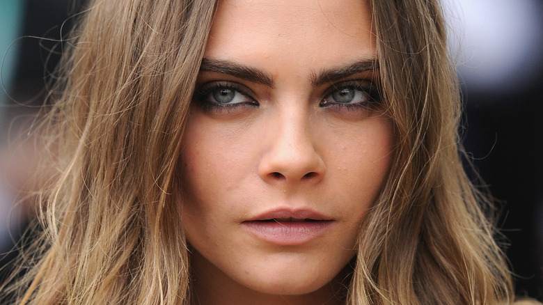 Cara Delevingne face close-up