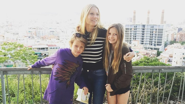 Gwyneth Paltrow with kids Moses and Apple Martin