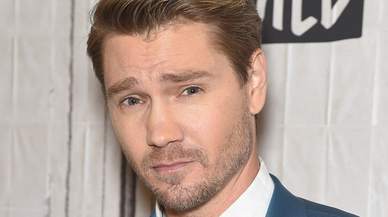 Chad Michael Murray wears a suit on the red carpet.