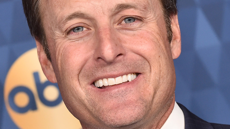 up close of Chris Harrison's face at ABC event