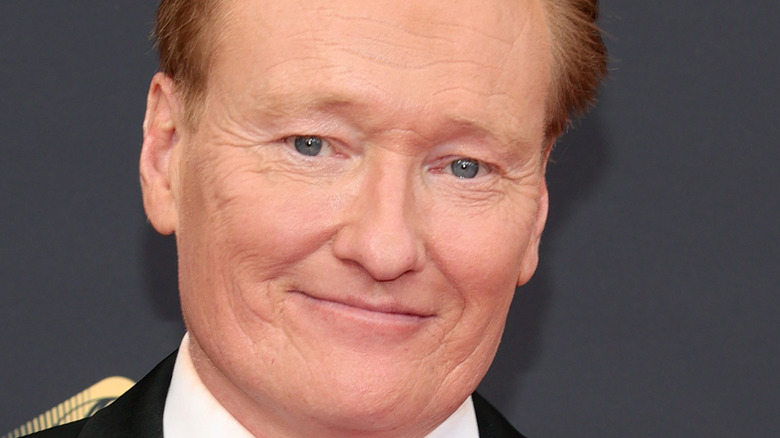 Conan O'Brien at the Emmys close up