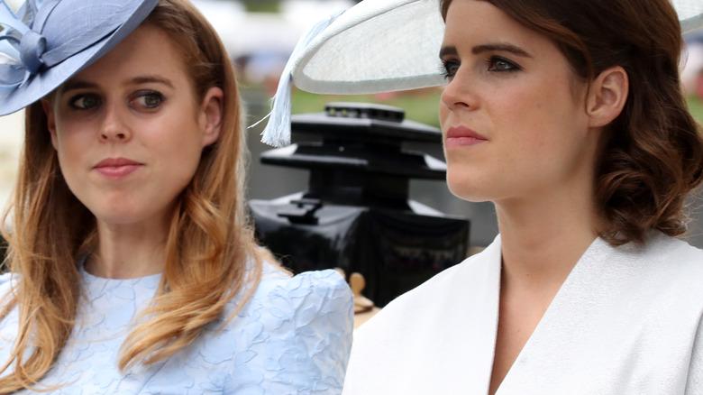 Princess Beatrice and Princess Eugenie at a royal event