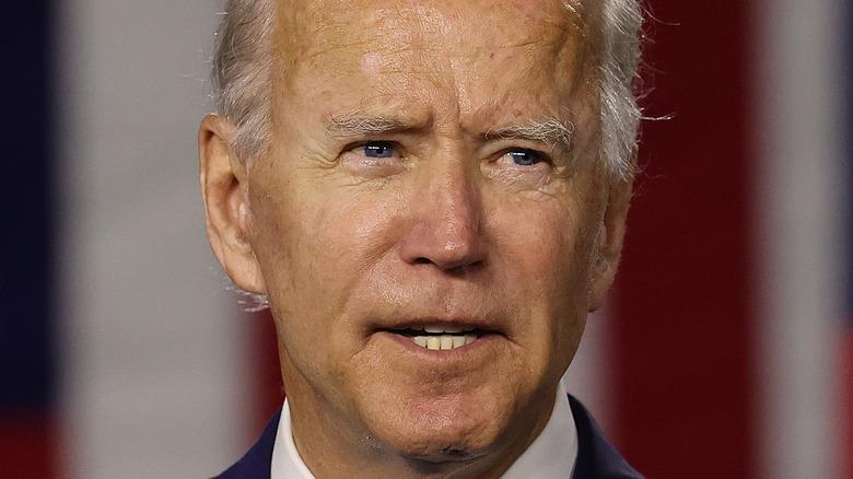 President Joe Biden giving a speech