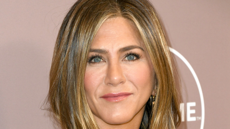 Jennifer Aniston poses at an event.