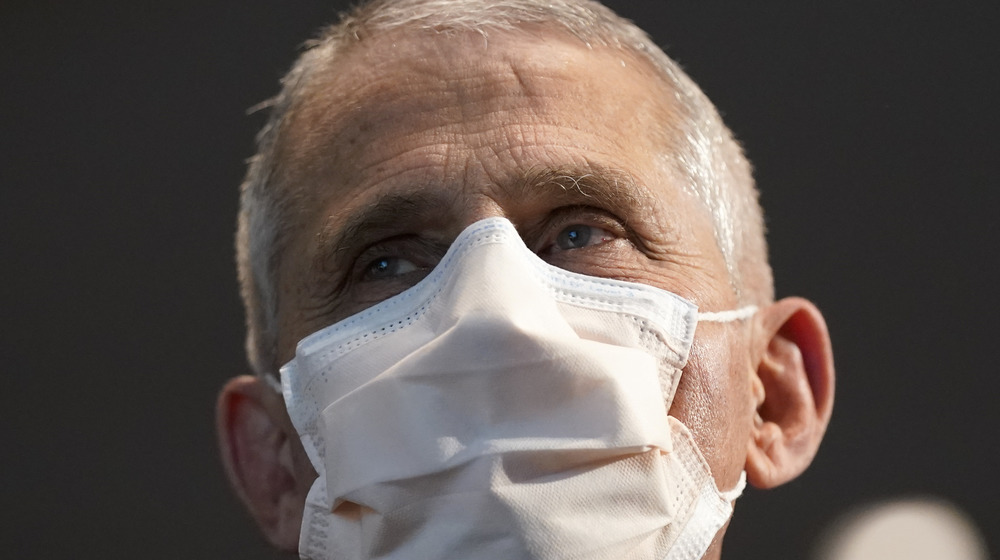 Dr. Anthony Fauci wearing a face mask