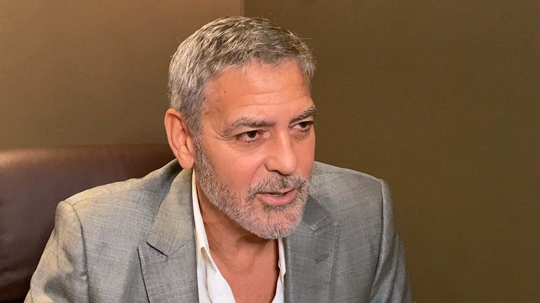 George Clooney in gray suit