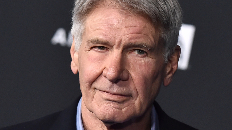 Harrison Ford poses at an event