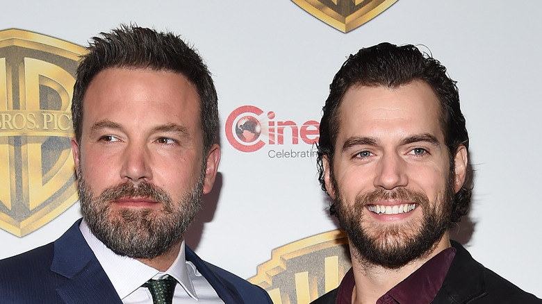 Ben Affleck and Henry Cavill pose on the red carpet together
