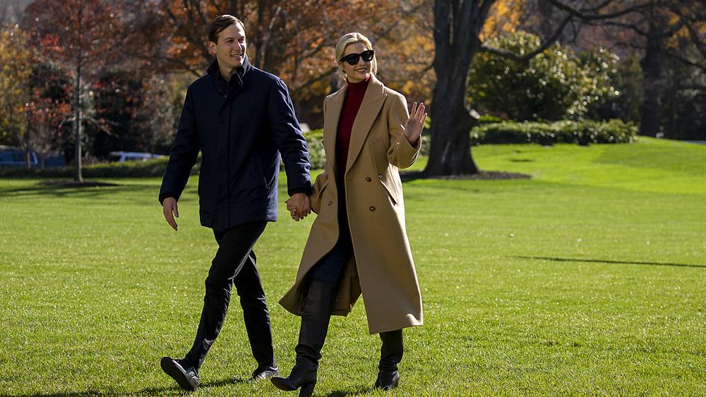 Ivanka Trump and Jared Kushner walking together