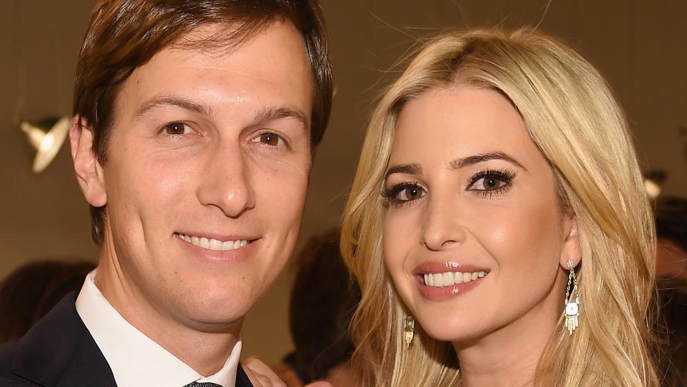 Jared Kushner and Ivanka Trump posing