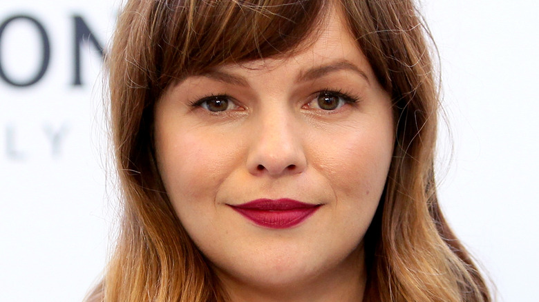 Amber Tamblyn poses on the red carpet