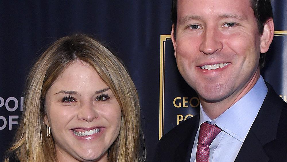 Jenna Bush Hager and husband Henry Hager smiling