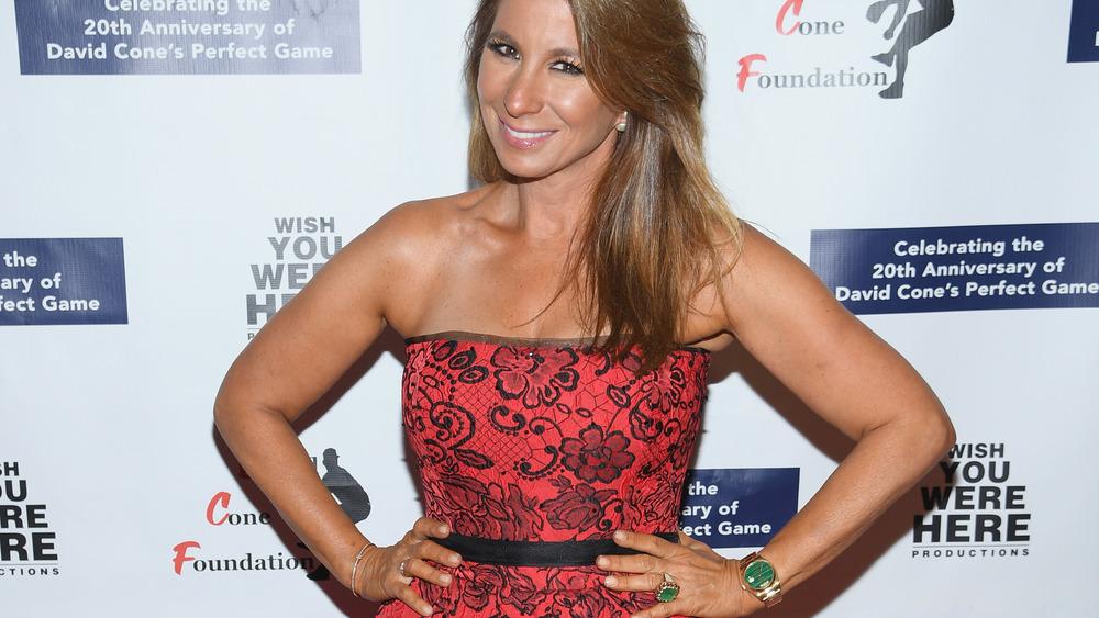 Jill Zarin smiling in red dress