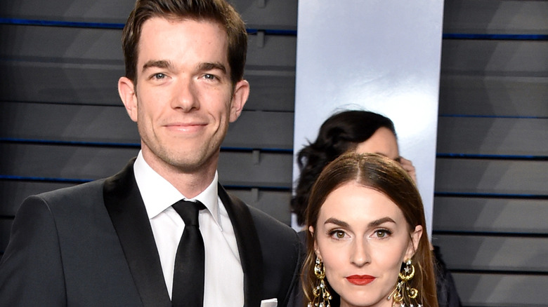 John Mulaney and Anna Marie Tendler pose together