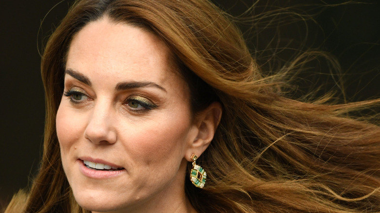 Kate Middleton with flowing hair
