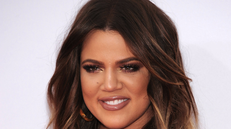 Khloé Kardashian smiling