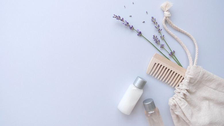 lavender and hair products