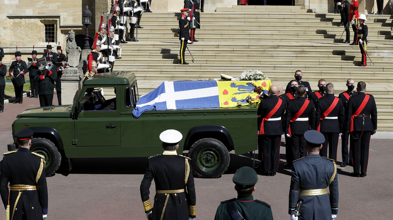 Prince Philip's funeral car.