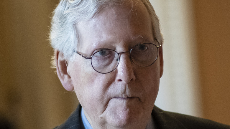 Mitch McConnell mouth closed